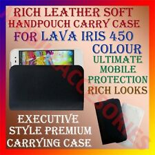 ACM-RICH LEATHER SOFT CASE for LAVA IRIS 450 COLOUR MOBILE HANDPOUCH COVER NEW