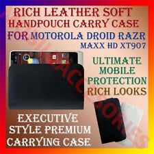 ACM-RICH LEATHER SOFT CASE for MOTOROLA DROID RAZR MAXX HD XT907 HANDPOUCH COVER