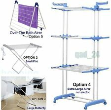 AIRER CLOTHES FOLDING TOWEL LAUNDRY DRYER CONCERTINA INDOOR OUTDOOR DRIER
