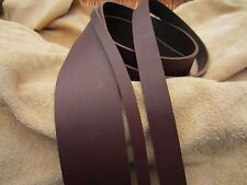 """50"""" LONG OIL TANNED DARK BROWN 4mm THICK REAL LEATHER STRAP VARIOUS WIDTH"""