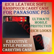 ACM-RICH LEATHER SOFT CASE for PANASONIC P55 MOBILE HANDPOUCH COVER HOLDER POUCH