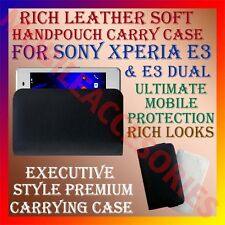 ACM-RICH LEATHER SOFT CASE for SONY XPERIA E3 & E3 DUAL MOBILE HANDPOUCH COVER