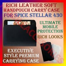 ACM-RICH LEATHER SOFT CASE for SPICE STELLAR 430 MOBILE HANDPOUCH PREMIUM COVER