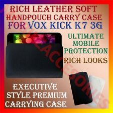 ACM-RICH LEATHER SOFT CASE for VOX KICK K7 3G MOBILE HANDPOUCH COVER HOLDER NEW