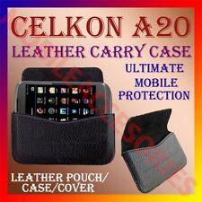 ACM-HORIZONTAL LEATHER CARRY CASE for CELKON A20 MOBILE POUCH COVER HOLDER NEW