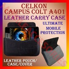 ACM-HORIZONTAL LEATHER CARRY CASE for CELKON CAMPUS COLT A401 MOBILE POUCH COVER