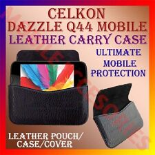 ACM-HORIZONTAL LEATHER CARRY CASE for CELKON DAZZLE Q44 MOBILE RICH POUCH COVER