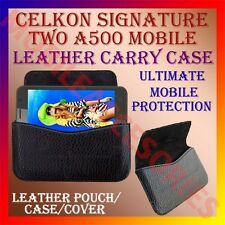 ACM-HORIZONTAL LEATHER CARRY CASE for CELKON SIGNATURE TWO A500 MOBILE COVER NEW