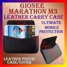 ACM-HORIZONTAL LEATHER CARRY CASE for GIONEE MARATHON M3 MOBILE POUCH COVER NEW