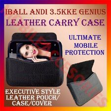 ACM-HORIZONTAL LEATHER CARRY CASE for IBALL ANDI 3.5KKE GENIUS MOBILE COVER CASE