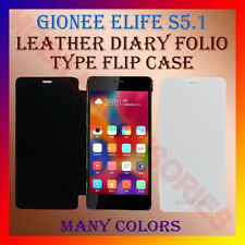 ACM-LEATHER DIARY FOLIO FLIP CASE for GIONEE ELIFE S5.1 MOBILE FRONT/BACK COVER