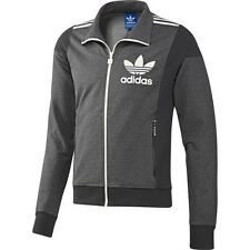 ADIDAS ORIGINALS ADI BIG TREFOIL TRACK TOP TRAININGSJACKE HERREN JACKE GRAU