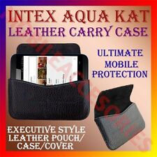 ACM-HORIZONTAL LEATHER CARRY CASE for INTEX AQUA KAT MOBILE POUCH COVER HOLDER