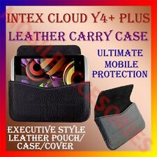 ACM-HORIZONTAL LEATHER CARRY CASE for INTEX CLOUD Y4+ PLUS MOBILE POUCH COVER