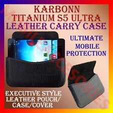 ACM-HORIZONTAL LEATHER CARRY CASE for KARBONN TITANIUM S5 ULTRA MOBILE COVER NEW