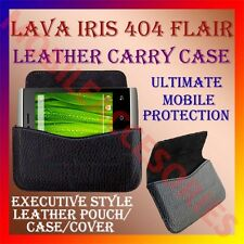 ACM-HORIZONTAL LEATHER CARRY CASE for LAVA IRIS 404 FLAIR MOBILE POUCH COVER
