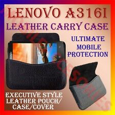 ACM-HORIZONTAL LEATHER CARRY CASE for LENOVO A316i MOBILE POUCH COVER HOLDER NEW