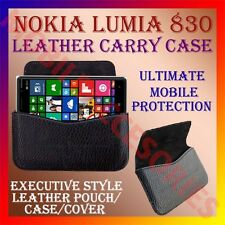 ACM-HORIZONTAL LEATHER CARRY CASE for NOKIA LUMIA 830 MOBILE POUCH COVER HOLDER