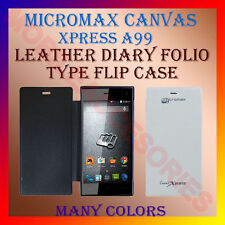 ACM-LEATHER DIARY FOLIO FLIP CASE for MICROMAX CANVAS XPRESS A99 MOBILE COVER