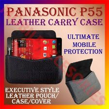 ACM-HORIZONTAL LEATHER CARRY CASE for PANASONIC P55 MOBILE POUCH COVER HOLDER