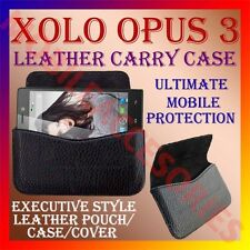 ACM-HORIZONTAL LEATHER CARRY CASE for XOLO OPUS 3 MOBILE POUCH COVER HOLDER NEW