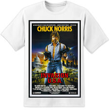 Chuck Norris Invasion USA Retro Movie Poster T SHIRT (S - 3XL) Vintage 80's Film