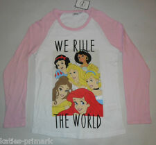 LADIES PRIMARK DISNEY PRINCESS WE RULE THE WORLD LONG SLEEVE T SHIRT TOP 10 - 12