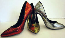 LADIES SNAKE SKIN SYNTHETIC COURT SHOES ( SPOT ON F9590)