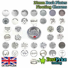 22mm Stainless Steel Back Plate Disc For 30mm Memory Floating Charm Locket