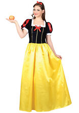 Adult Snow White Princess Fancy Dress Costume Fairy Tale Storybook Ladies New