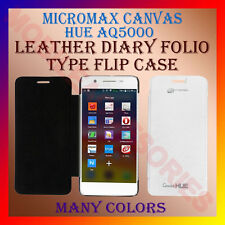ACM-LEATHER DIARY FOLIO FLIP CASE for MICROMAX CANVAS HUE AQ5000 MOBILE COVER