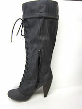 LADIES COCO MAN MADE LONG BOOTS BLACK STYLE L9291