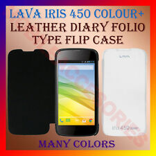 ACM-LEATHER DIARY FOLIO FLIP CASE for LAVA IRIS 450 COLOUR PLUS FULL BACK COVER