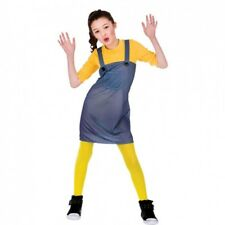 GIRLS MISCHIEVOUS WORKER FANCY DRESS COSTUME YELLOW TV FILM CHARACTER OUTFIT