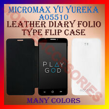 ACM-LEATHER DIARY FOLIO FLIP CASE for MICROMAX YU YUREKA A05510 MOBILE COVER NEW