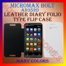 ACM-LEATHER DIARY FOLIO FLIP FLAP CASE for MICROMAX BOLT AD3520 MOBILE COVER NEW