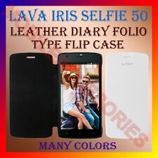 ACM-LEATHER DIARY FOLIO FLIP FLAP CASE for LAVA IRIS SELFIE 50 MOBILE FULL COVER