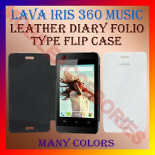 ACM-LEATHER DIARY FOLIO FLIP FLAP CASE for LAVA IRIS 360 MUSIC MOBILE FULL COVER