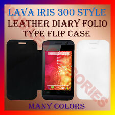 ACM-LEATHER DIARY FOLIO FLIP FLAP CASE for LAVA IRIS 300 STYLE MOBILE FULL COVER