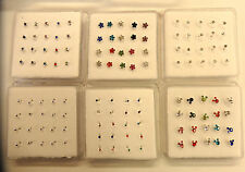 40 sterling silver nose studs wholesale crystal star clawset uk
