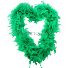 GREEN 65G FEATHER BOA IRISH ST PATRICKS DAY FANCY DRESS COSTUME ACCESSORY DECOR