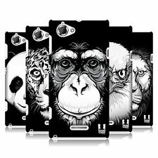 HEAD CASE DESIGNS BIG FACE ILLUSTRATED SERIES 1 CASE FOR SONY XPERIA L C2105