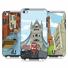 HEAD CASE DESIGNS DOODLE CITIES SERIES 2 CASE FOR APPLE iPOD TOUCH 4G 4TH GEN