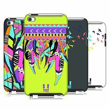 HEAD CASE DESIGNS NEON FEATHERS HARD BACK CASE FOR APPLE iPOD TOUCH 4G 4TH GEN