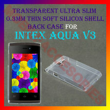 ACM-ULTRA SLIM 0.3MM FULL TRANSPARENT SILICON for INTEX AQUA V3 BACK COVER CASE