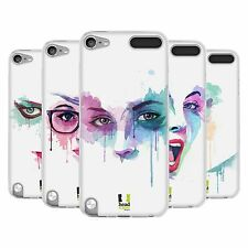 HEAD CASE FACES IN WATERCOLOUR SILICONE GEL CASE FOR APPLE iPOD TOUCH 5G 5TH GEN