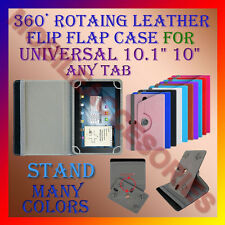"ACM-ROTATING 360° LEATHER FLIP STAND COVER 10"" CASE for UNIVERSAL 10.1"" ANY TAB"