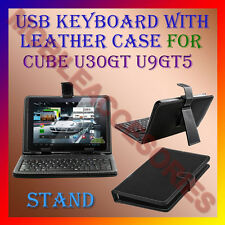 "ACM-USB KEYBOARD 10"" CASE for CUBE U30GT U9GT5 TABLET LEATHER COVER STAND HOLDER"