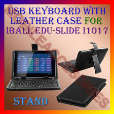 "ACM-USB KEYBOARD 10"" CASE for IBALL EDU-SLIDE i1017 TABLET LEATHER COVER STAND"