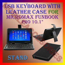 "ACM-USB KEYBOARD 10"" CASE for MICROMAX FUNBOOK PRO LEATHER COVER STAND TABLET"